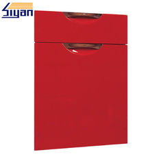 Good Quality Shaker Kitchen Cabinet Doors & Red High Glossy Modern Kitchen Cabinet Doors Replacement With E1/E2 MDF Board on sale