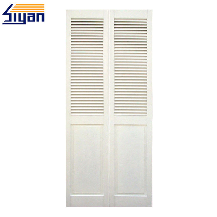 Surface Finished Louvered Bifold Closet Doors Interior For Cabinets