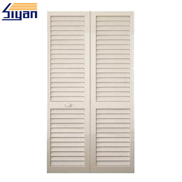 Solid Color Louvered Closet Doors For Wardrobe , W630mm*H1100mm Size