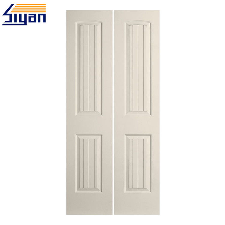 China MDF Bifold Panel Closet Doors , Swing Modern Closet Doors For  Bedrooms Supplier