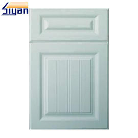 PVC Membrane Classic Cabinet Doors Solid Color With 0.3mm Thickness