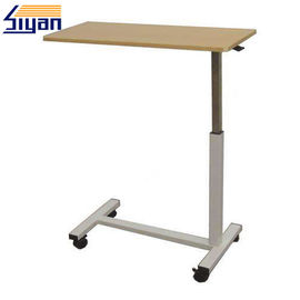Adjustable Height Hospital Bedside Table Top Wood Grain With OEM ODM Service