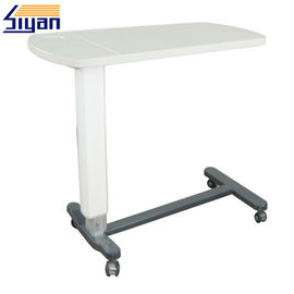 White Movable Overbed Table Swivel Top For Computer / Laptop Table