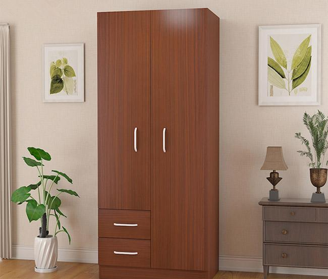 Modern Simple 2 Louvered Closet Doors Or Wooden Closet , CARB2 Standard